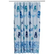 Butterfly Shower Curtain Blue