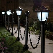 Solar Light Posts With Chains