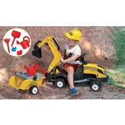 Yellow Tractor Constructor Ride On