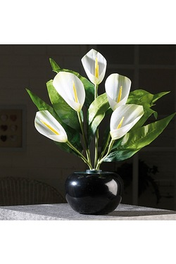 40cm Fibre Optic White Calla Lily
