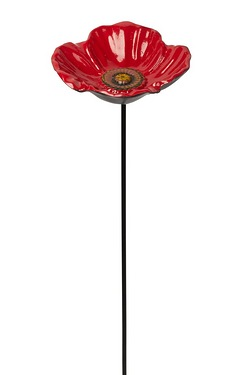 Cast Iron Poppy Feeder Dish