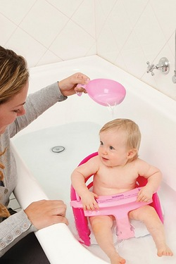 Dreambaby Pink Bath Seat + Scoop