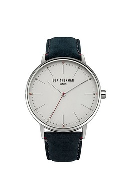Ben Sherman Leather Strap Watch - Blue