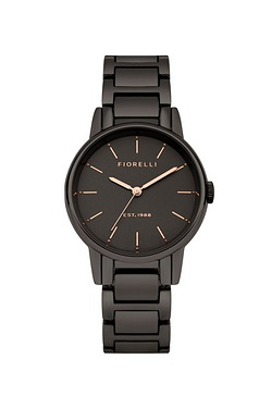 Fiorelli Gun Metal Bracelet Watch