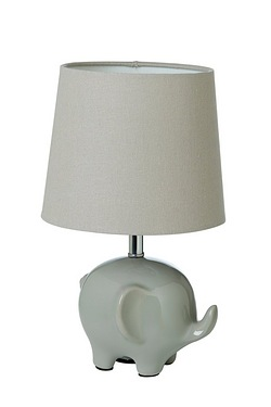Grey Elephant Table Lamp