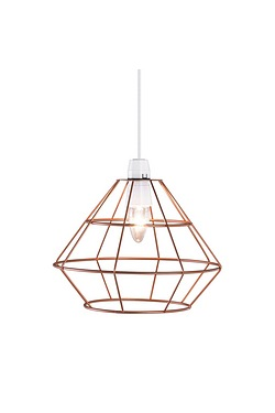 Copper Look Cage Easy Fit Pendant