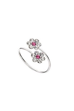 Pink Double Flower Toe Ring