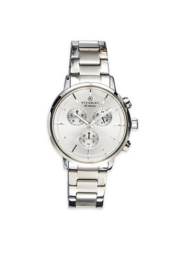 Gents Silver Accurist Watch