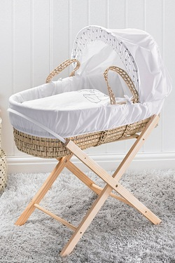 Elephant Moses Basket and Folding Stand