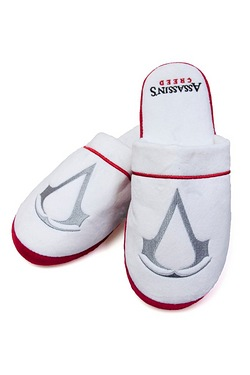 Assassin's Creed White Mule Slippers