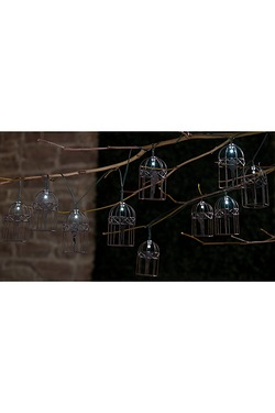 Solar Birdcage String Lights