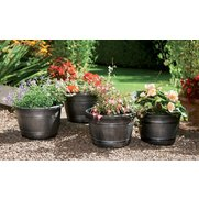 Pack Of Four Half Barrel Planters