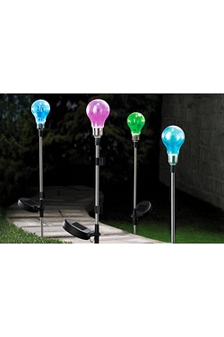 Pack Of 4 Solar Bulb Stake Light