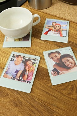 Polaroid Photo Coasters