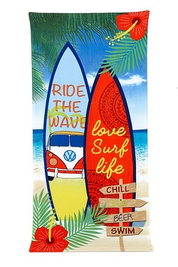 Love Surf Life Beach Towel