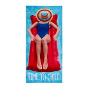 Time To Chill Beach Towel