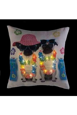 Summer Pug Light Up Cushion