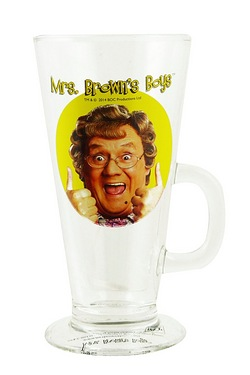 Mrs Brown Thumbs Up Latte Glass