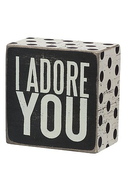 Adore You Box Sign
