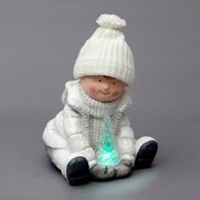 Magnesia Sitting Boy Ornament