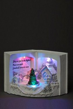Polyresin LED Book Scene