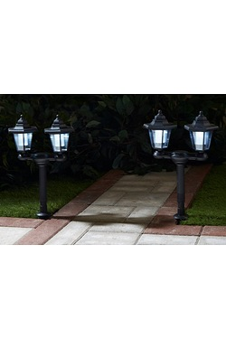 Twin Solar Light Post Offer