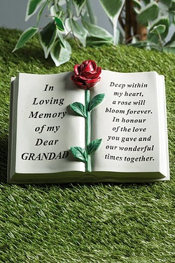 Red Rose Memorial Book