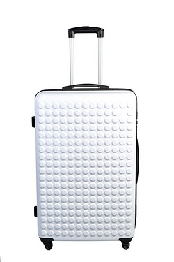 Dot ABS Luggage Case - White