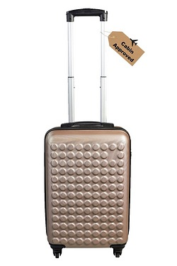 Dot ABS Luggage Case - Rose Gold