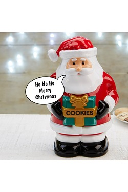 Talking Santa Cookie Jar
