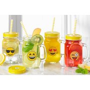 Set Of 4 Emoji Jars