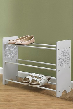 3-Tier Shoe Rack With Tree Pattern