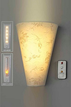 Battery Operated Wall Light And Rem...