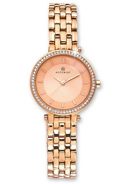 Ladies Rose Gold Accurist Watch