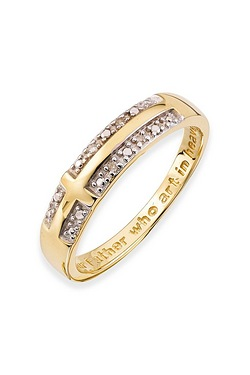 Ladies 9ct Our Father Ring