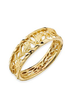 9ct DC Open Leaves Band Ring