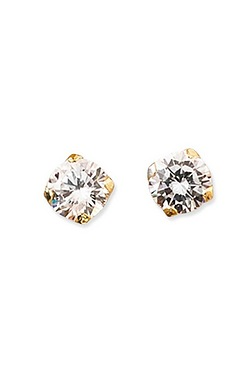 9ct Gold Round CZ Stud Earrings