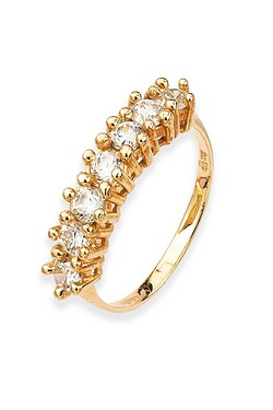 9ct Red Gold CZ Eternity Ring
