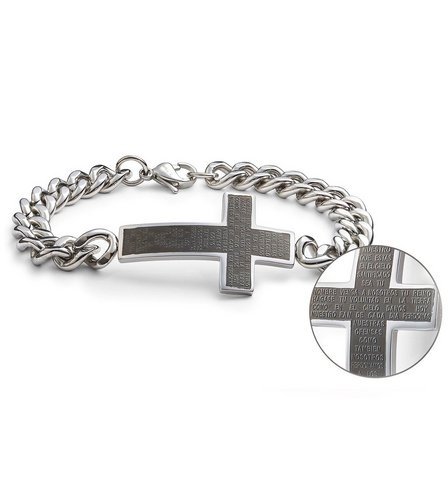 Image for Stainless Steel Gents Cross Bracelet from ace