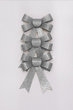 Glitter Bow Pack - Silver