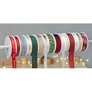 Pack Of 15 Ribbon Spools - Christmas