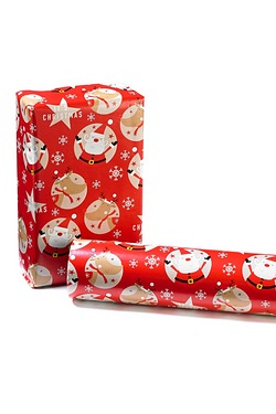 4m Santa and Rudolf Roll Wrap