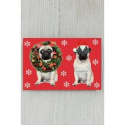8 Self-Adhesive Tags -Pugs