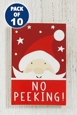 10 Brights Santa Kids Tags