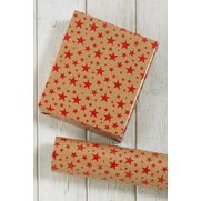 Red Kraft Stars Kids Wrap
