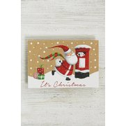Skating Santa - 10 Self Adhesive Tags