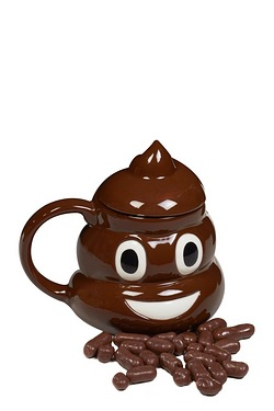 Emoji Mug And Sweets - Poo