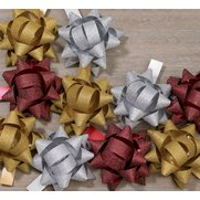 10 Pack Of Luxury Glitter Bows