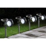 Set Of 4 Stainless Steel Mega Solar...