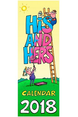 Large Slim His and Hers Calendar 2018